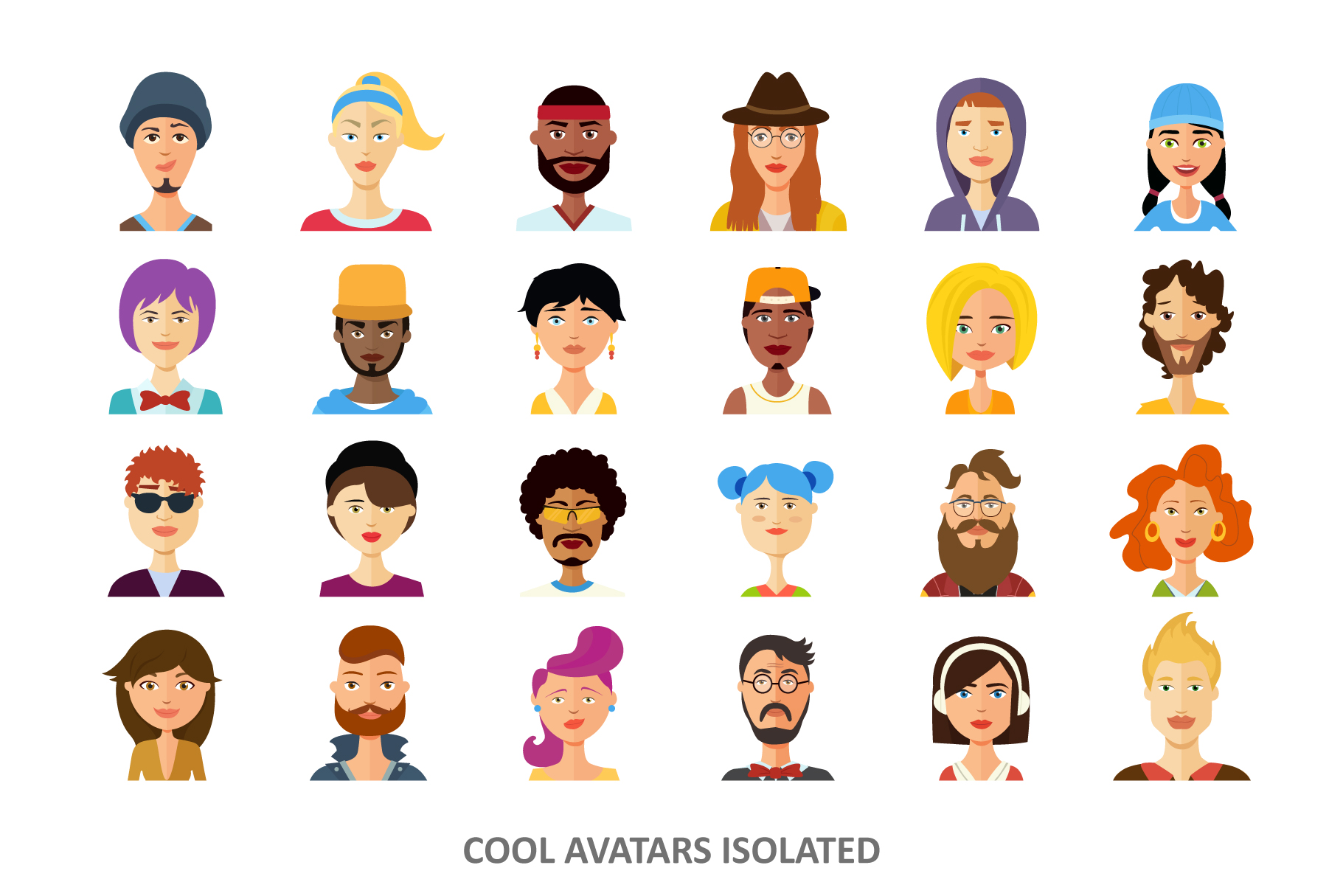 Avatars vector People Collection flat cartoon example image 3