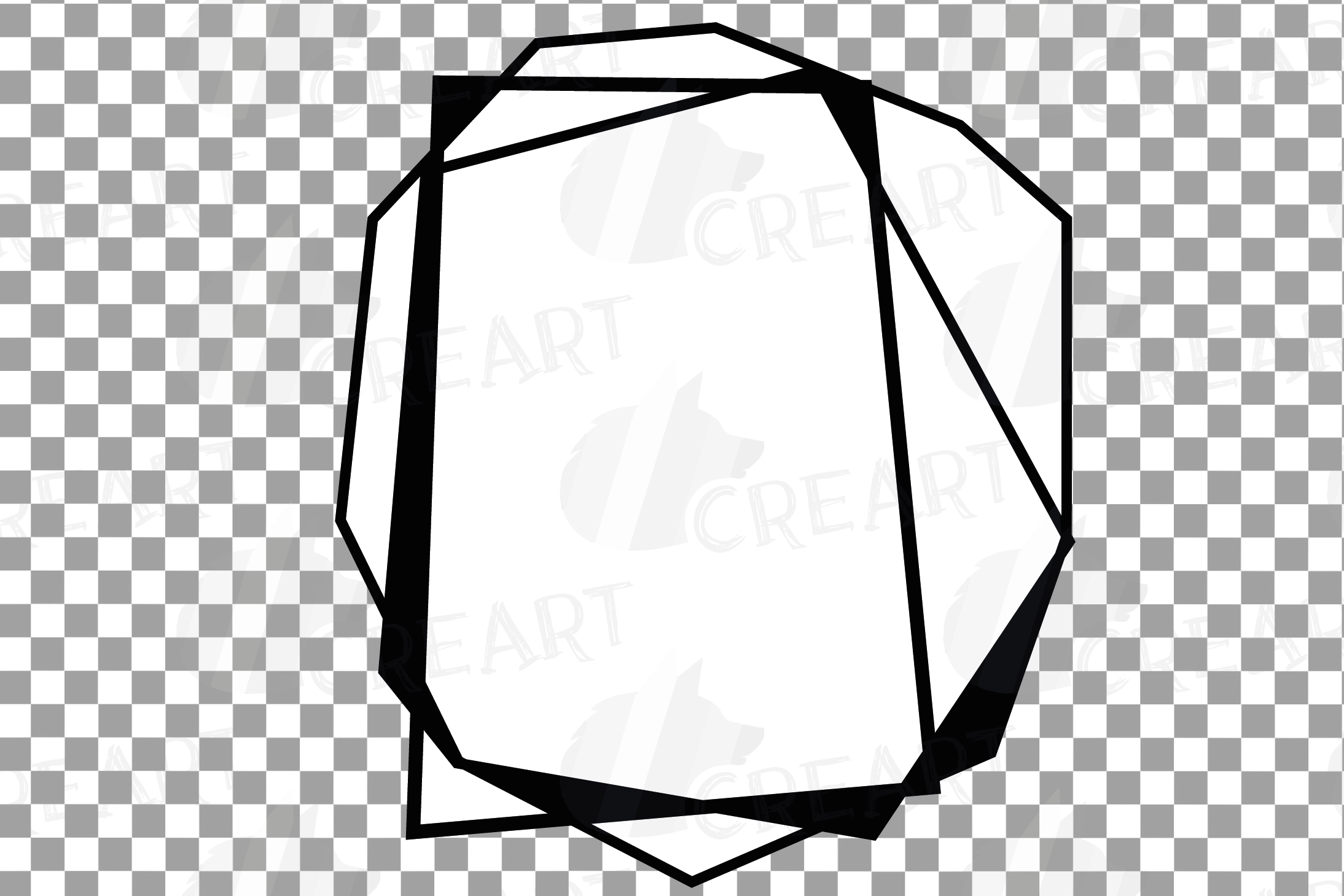 Chaotic geometric black frames, lineal frames clip art example image 17