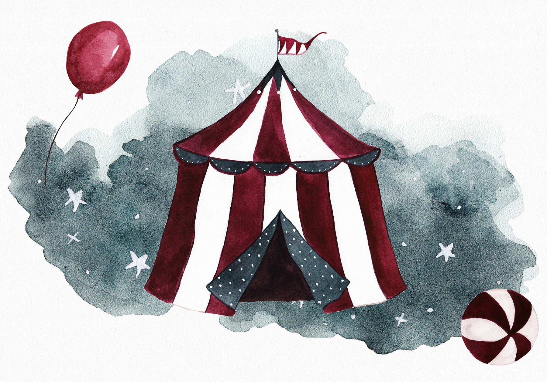 Circus Watercolor Set example image 5