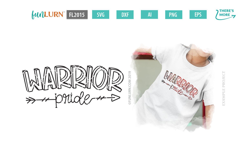 Warrior Pride Team SVG Cut File example image 1