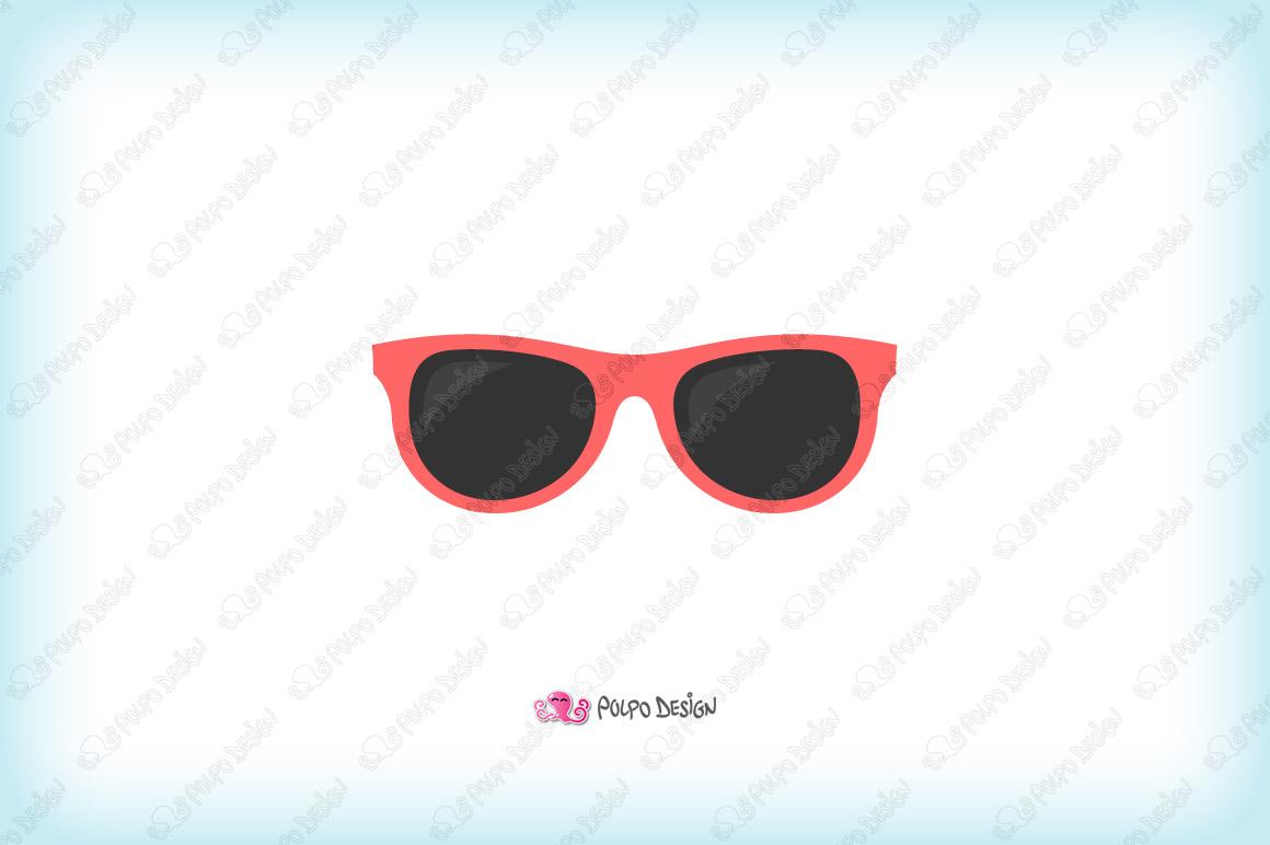 Colorful Sunglasses clip art example image 2