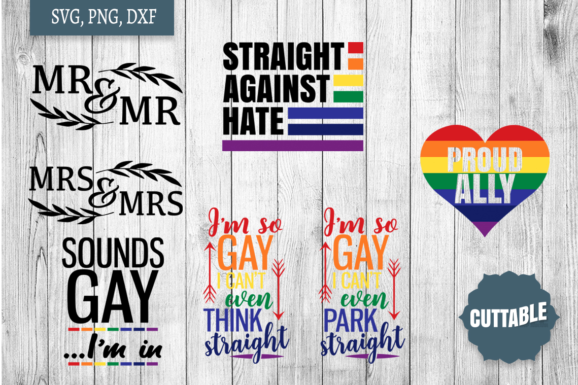 Gay pride SVG Bundle, gay sayings svg, gay quote cut files example image 2