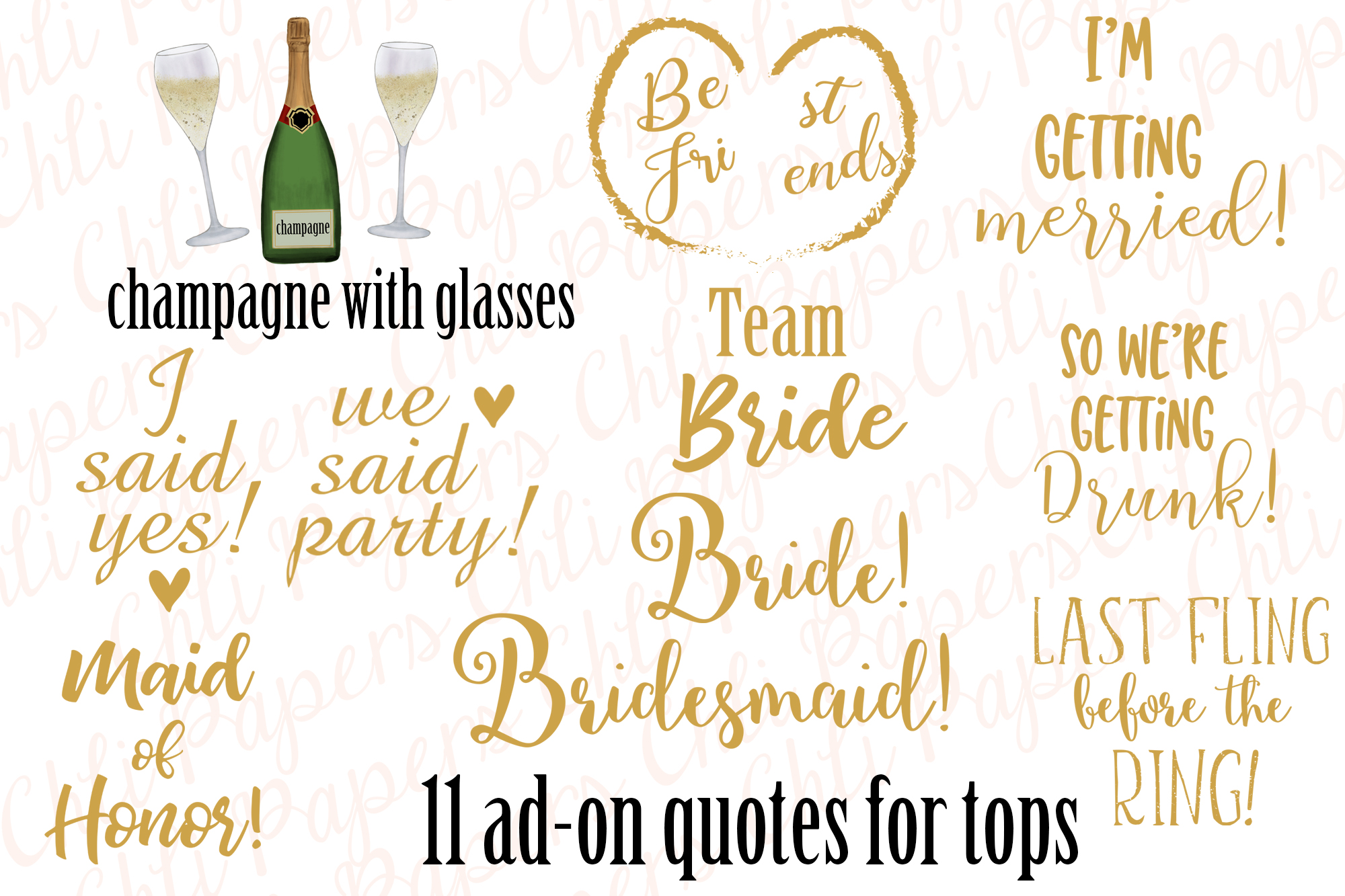 Girl best friend clipart, Bachelorette party girls clipart example image 6
