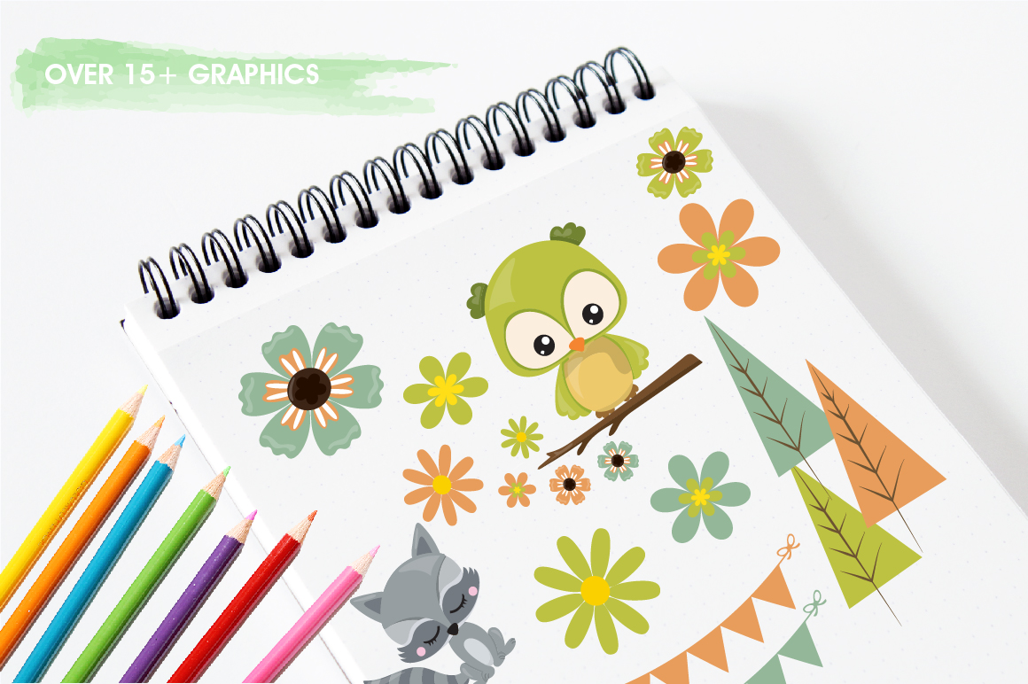 Woodland friends graphics and illustrations example image 3