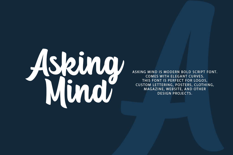 Asking Mind - Logotype Font example image 2