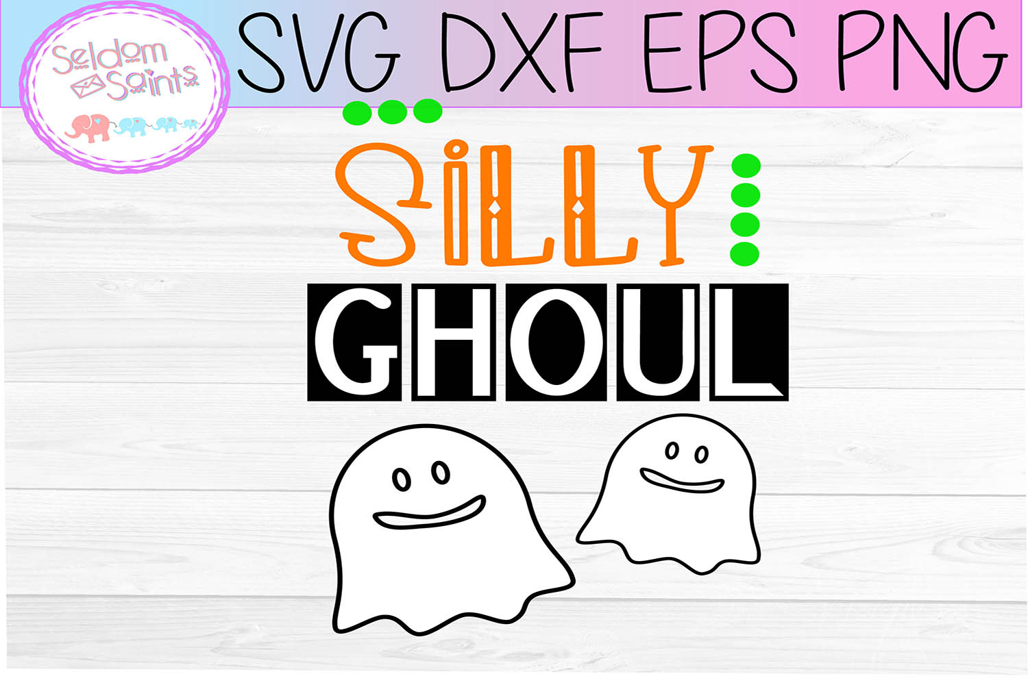 Silly Ghoul SVG PNG DXF EPS example image 2