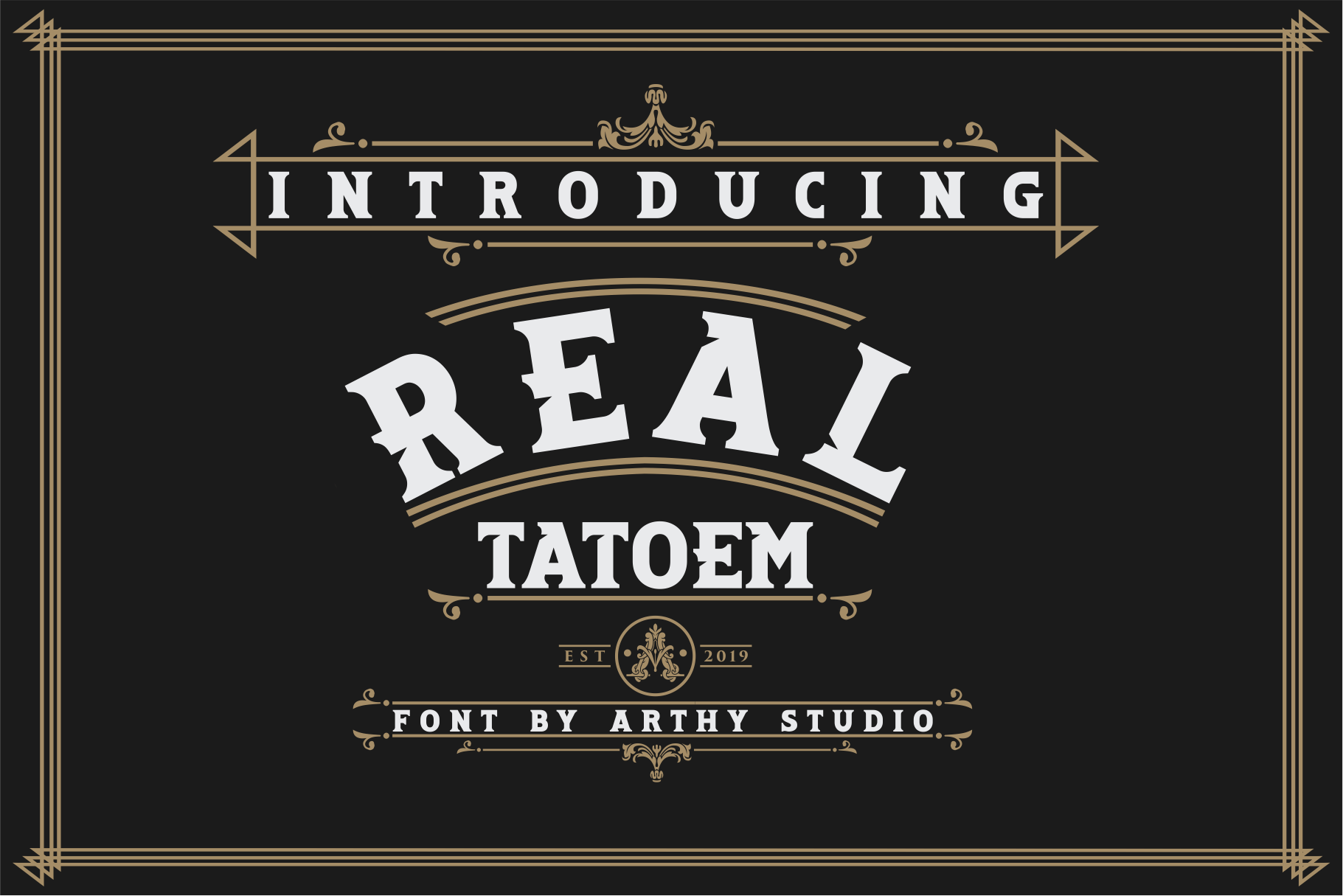 REAL TATOEM FONT example image 7