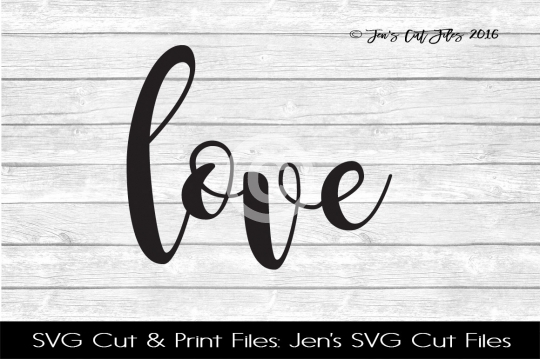 Love SVG Cut File example image 1