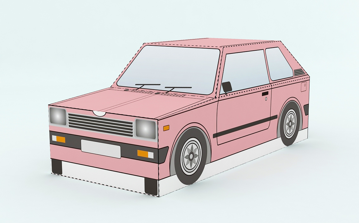 DIY Car Favor - 3d papercraft example image 2