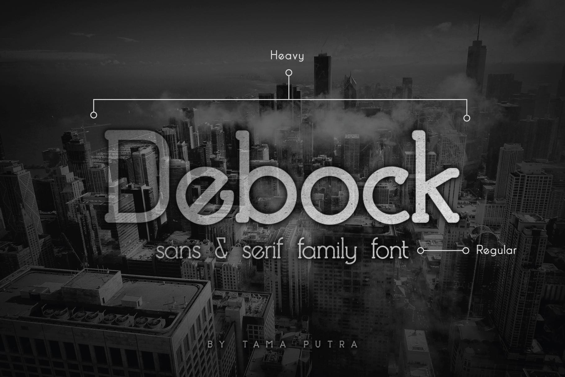 Debock Rounded Sans & Serif Font example image 1