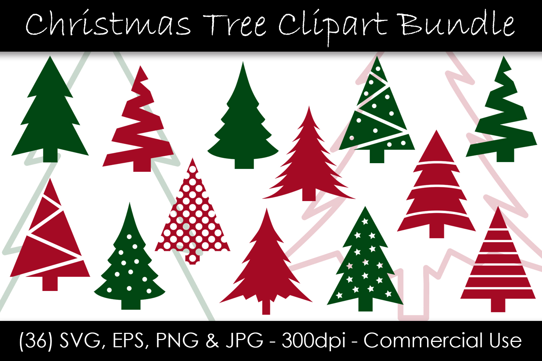 Christmas Tree SVG Bundle - Christmas Tree Clip Art example image 1