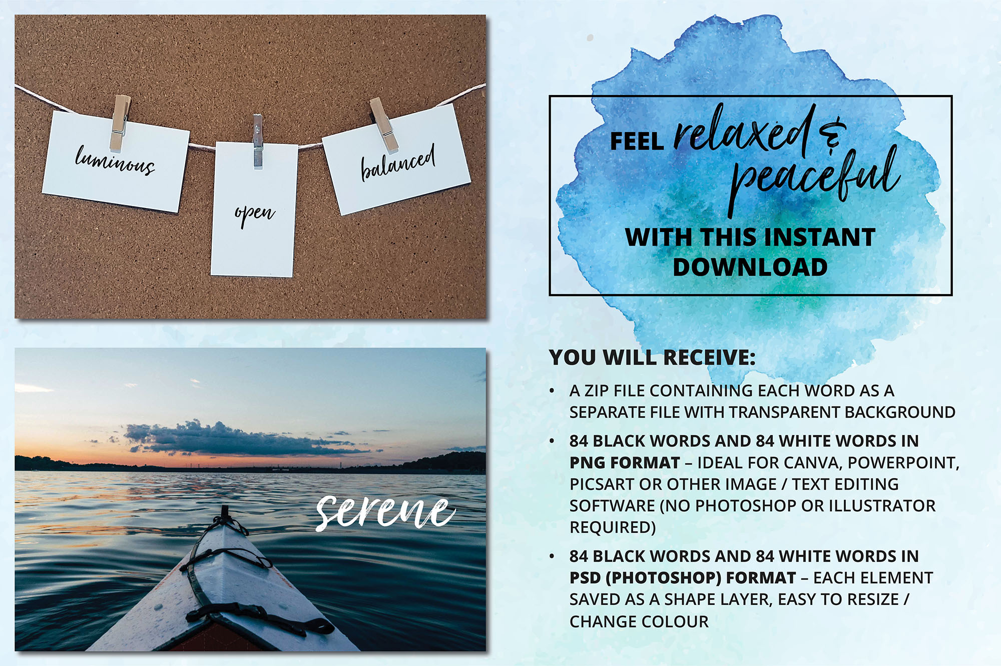Social Media Overlays Bundle - 712 Black and White Words example image 14