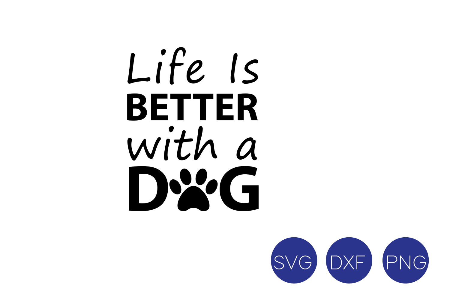 5572b0a357 Life is Better with a Dog SVG