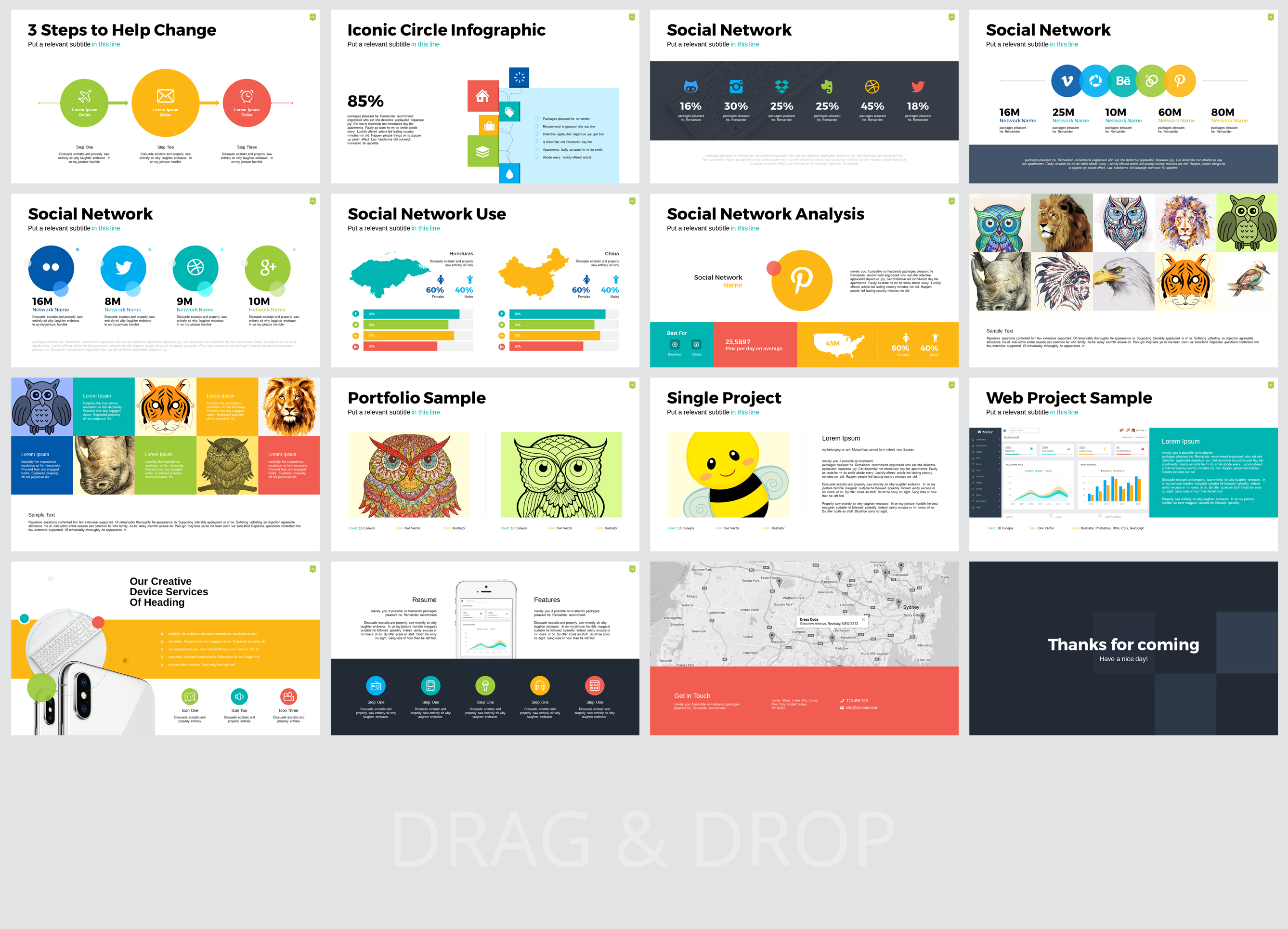 Mona Ultimate Multipurpose PowerPoint Template example image 3