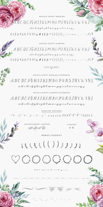 Asyiela Script Font Bundle example image 10