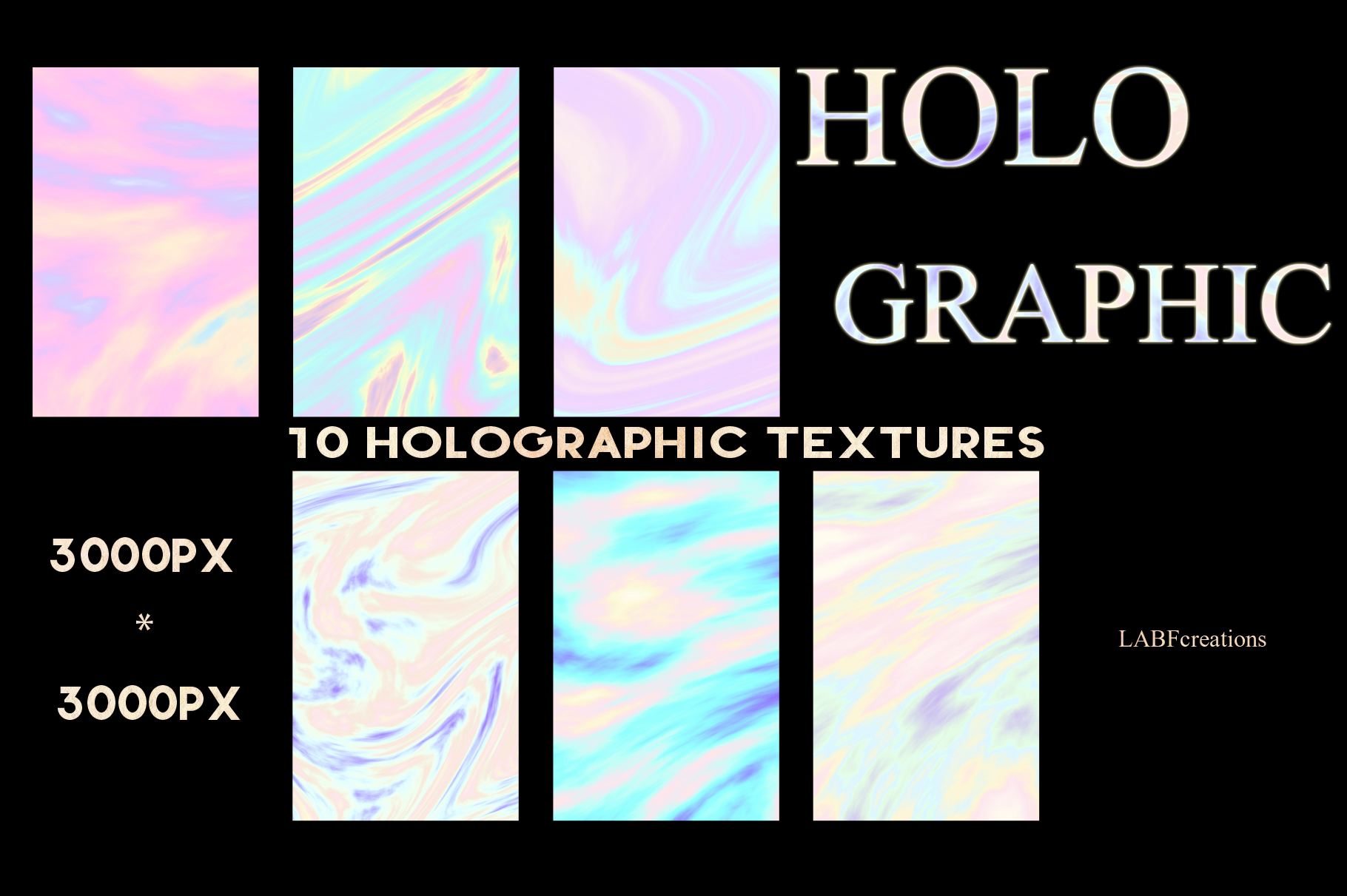 10 Holographic Textures example image 2