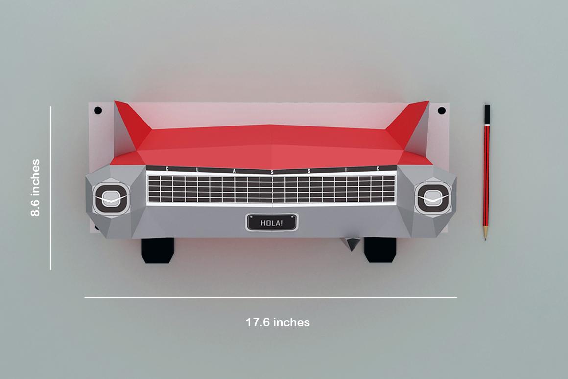 DIY Wall mount Car - 3d papercraft example image 4