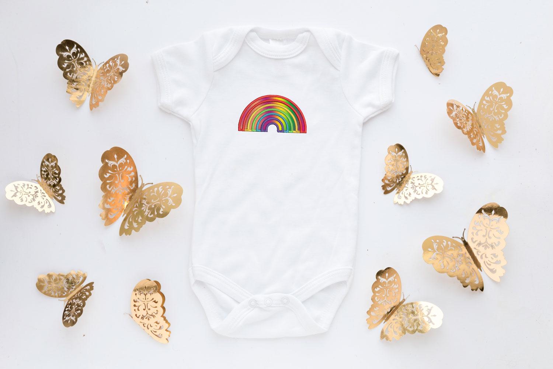 Rainbow Applique Design, Rainbow Embroidery, Pride example image 4