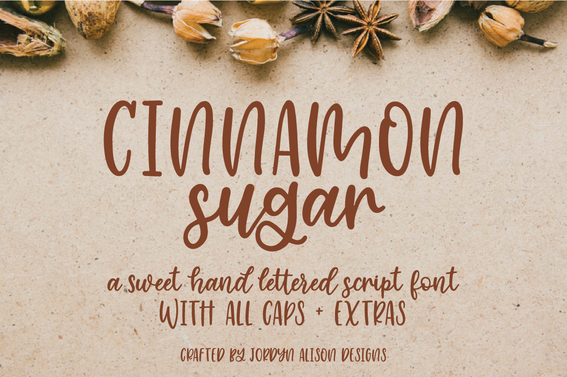 Cinnamon Sugar, Hand Lettered Script Font example image 1