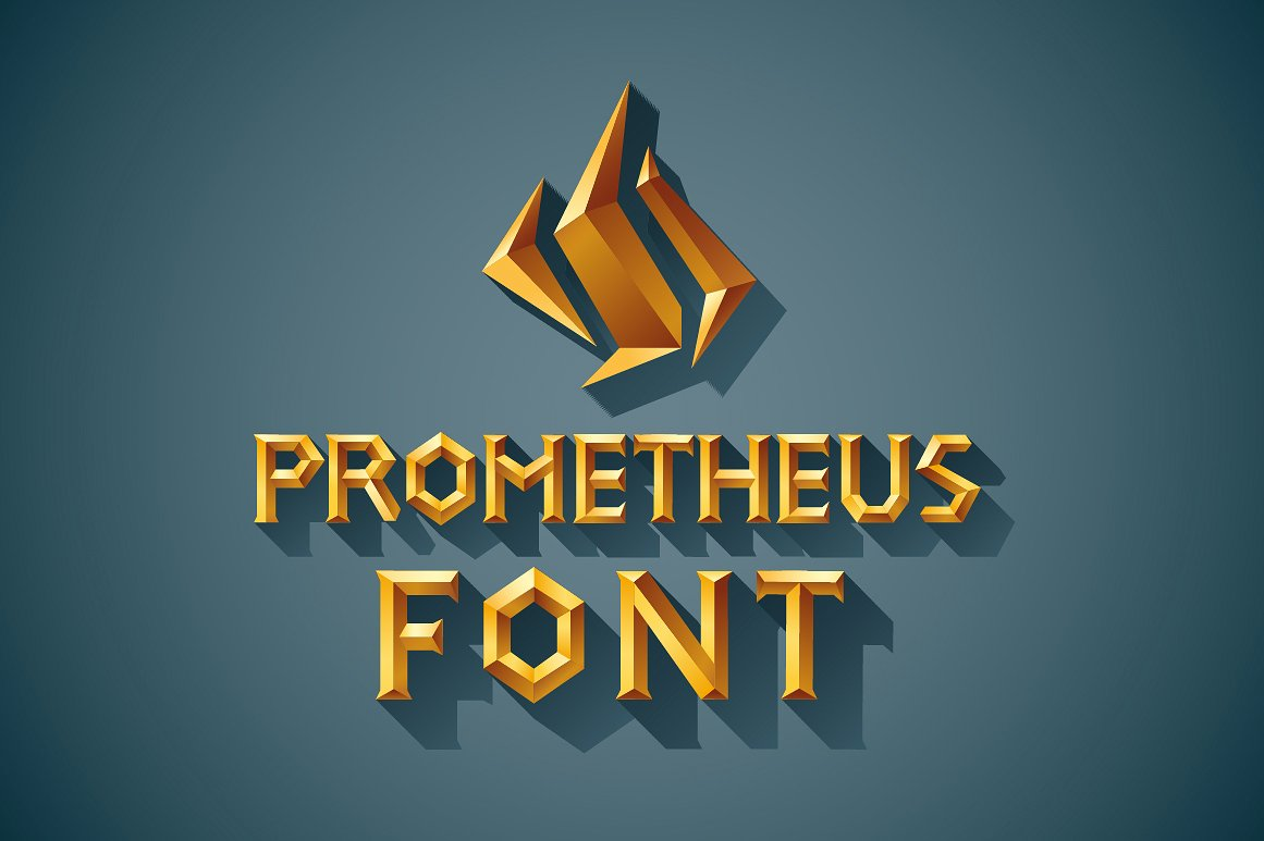 3D Font Set. Gold, wood, silver example image 1
