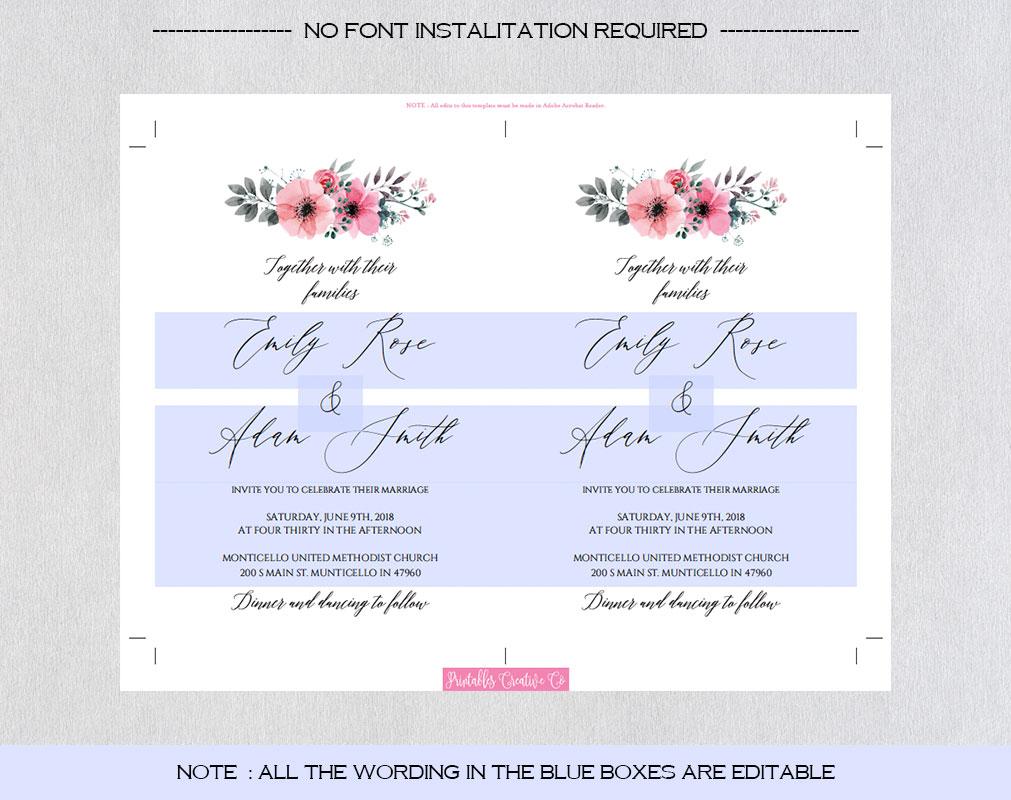 Wedding Invitation Template example image 5