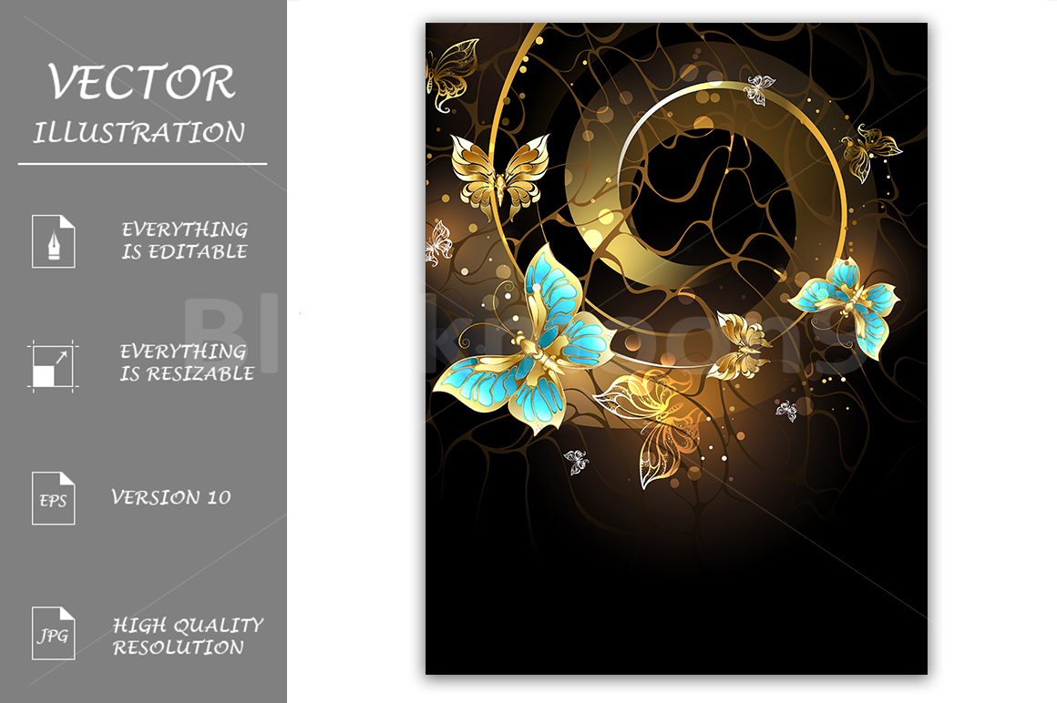 Spiral with Gold Butterflies example image 1