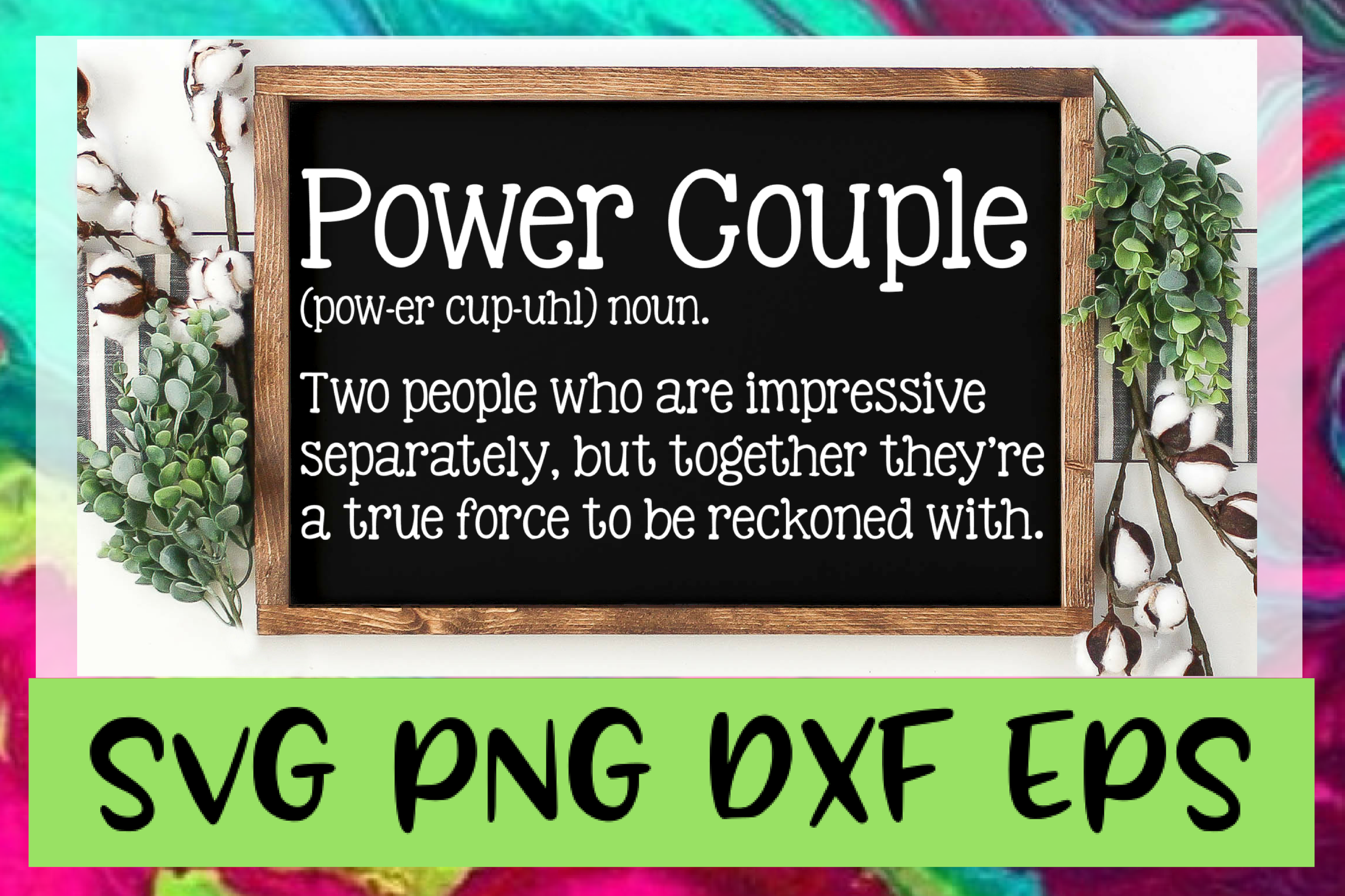 Power Couple Definition SVG PNG DXF & EPS Design Files example image 1