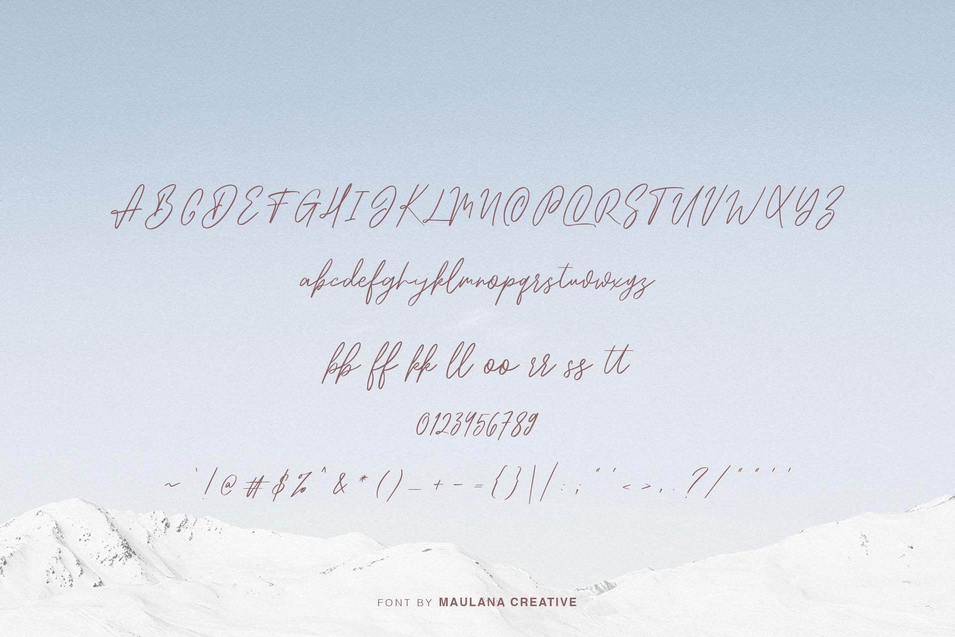Snowhart - Brush Font example image 8