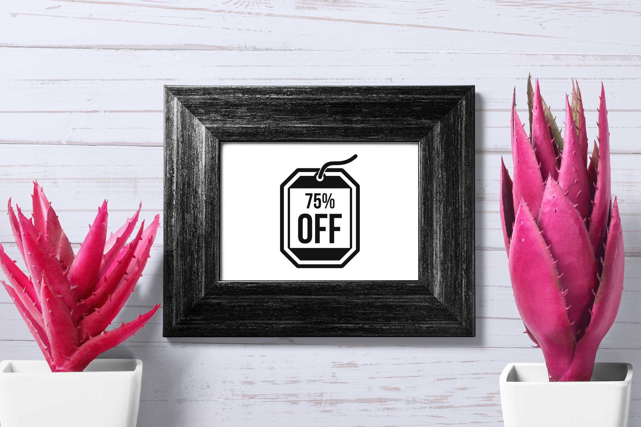 Black Friday icons set, simple style example image 4
