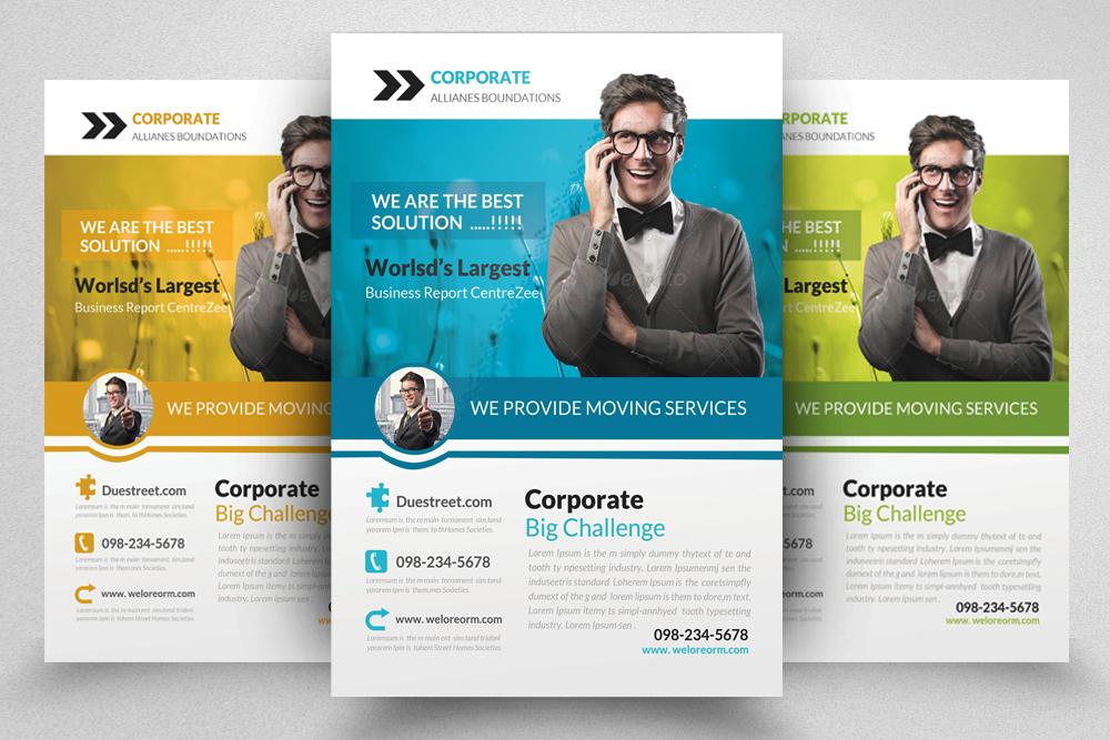 6 Corporate Business Flyers Bundle example image 5