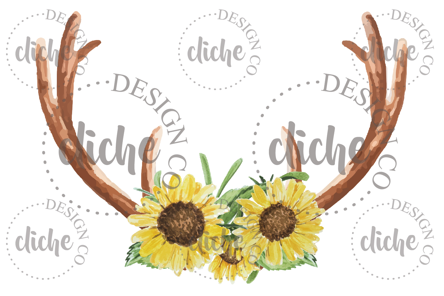 Rustic Floral Sublimation Design example image 1
