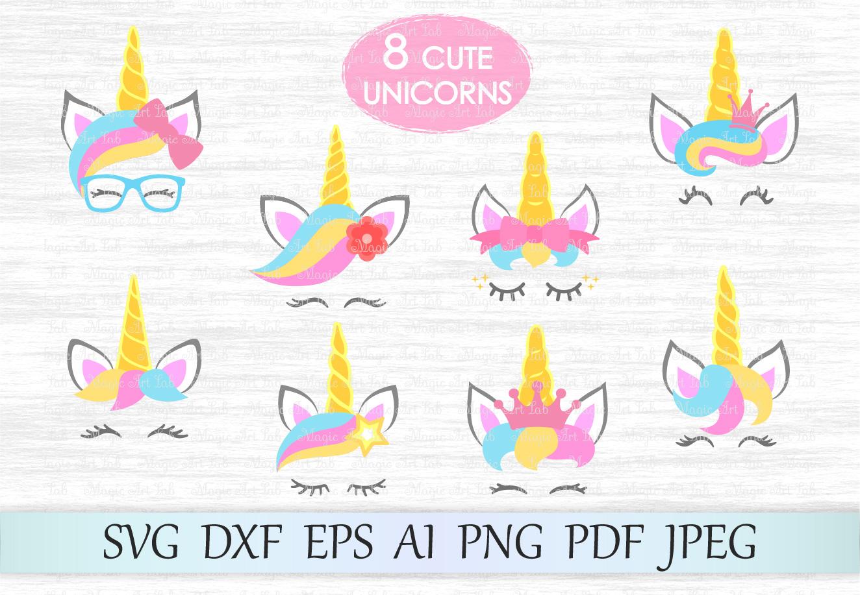 unicorn kit svg unicorn svg file unicorn head svg unicorn face