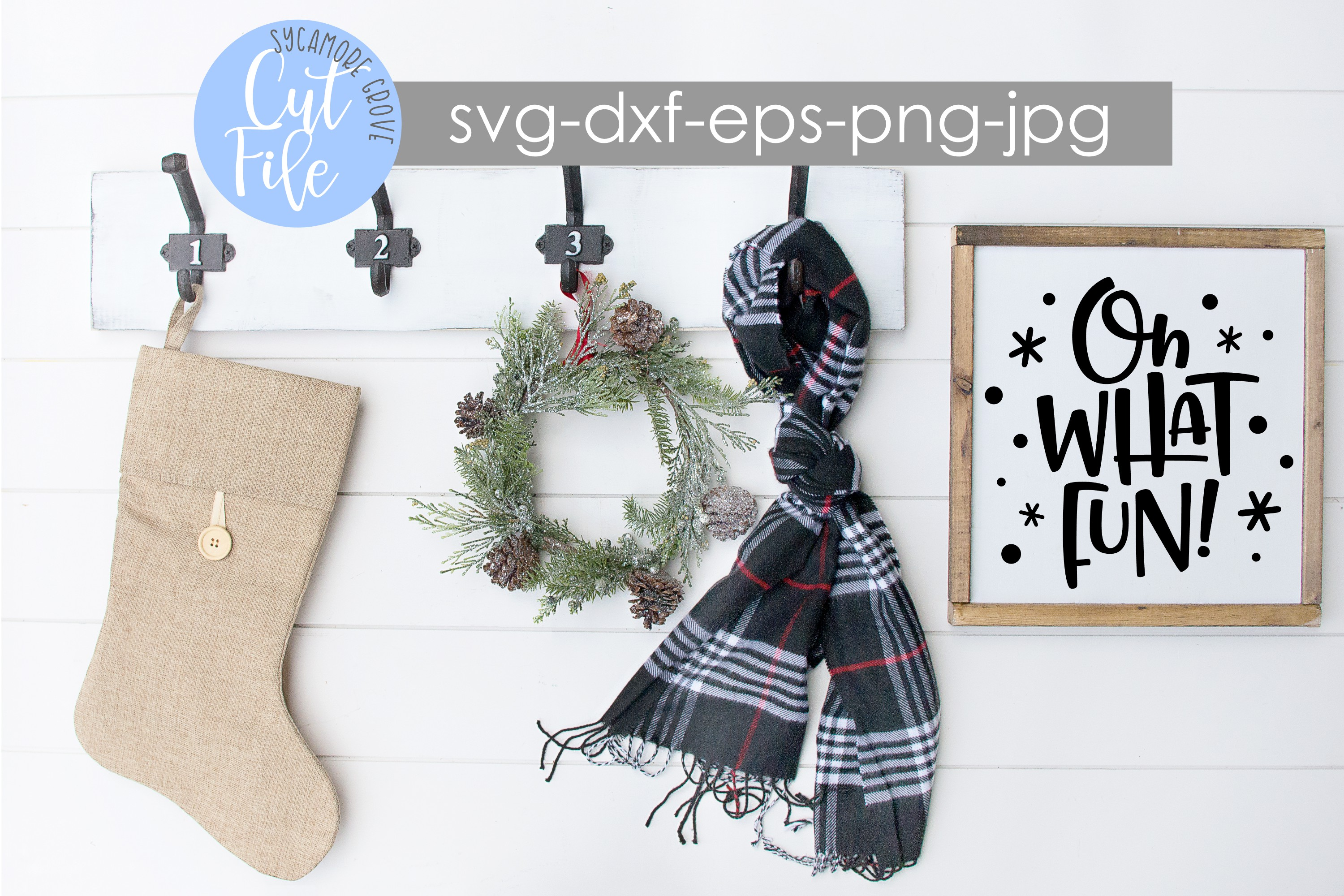 Oh What Fun! | Christmas SVG example image 3
