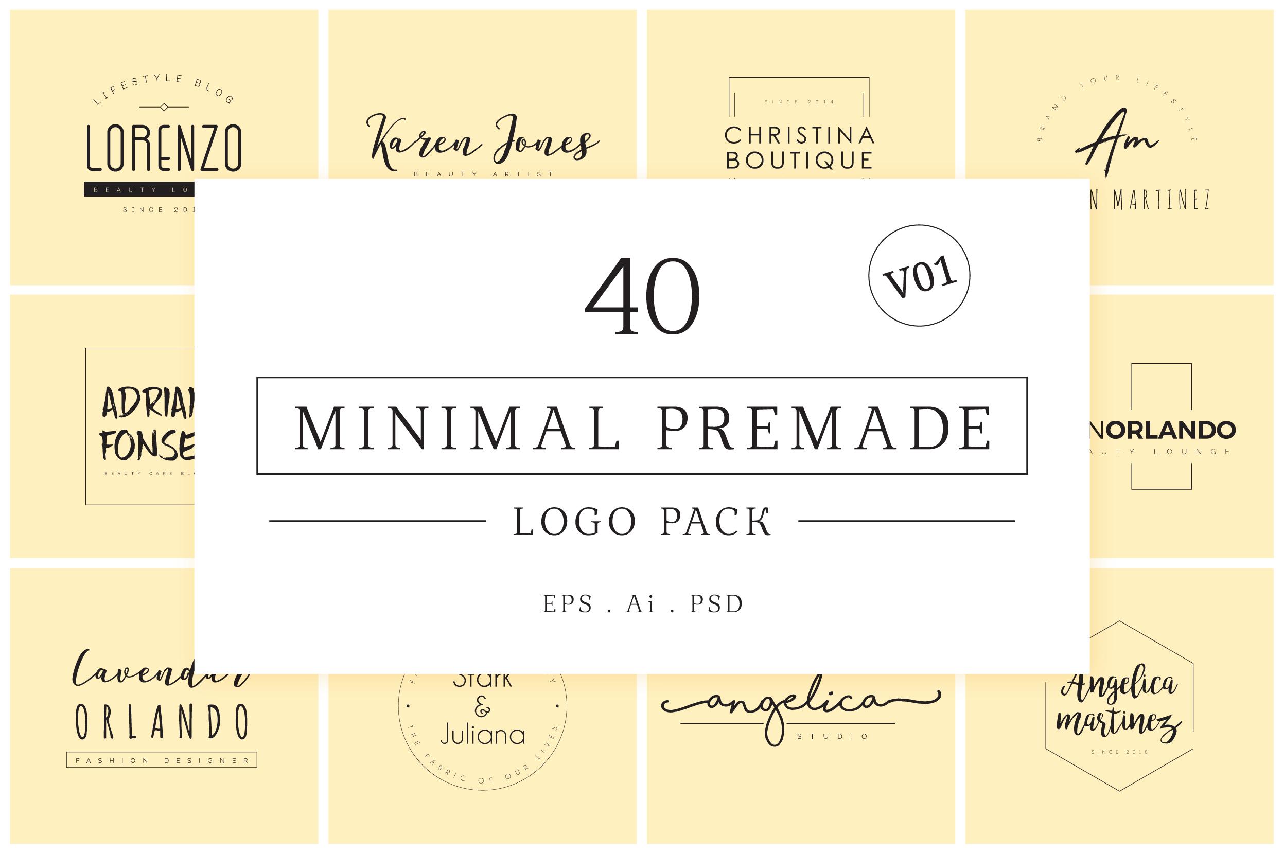 200 Minimal Premade Logo Bundle example image 2