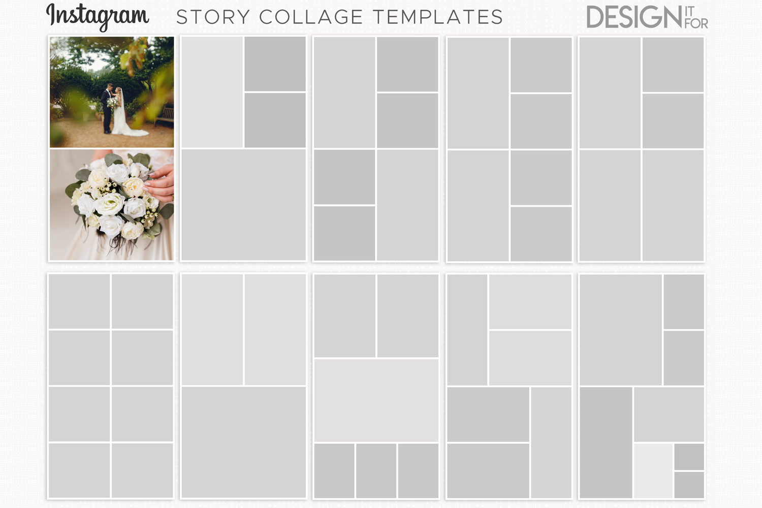 instagram story templates, instagram story collage templates example image 1