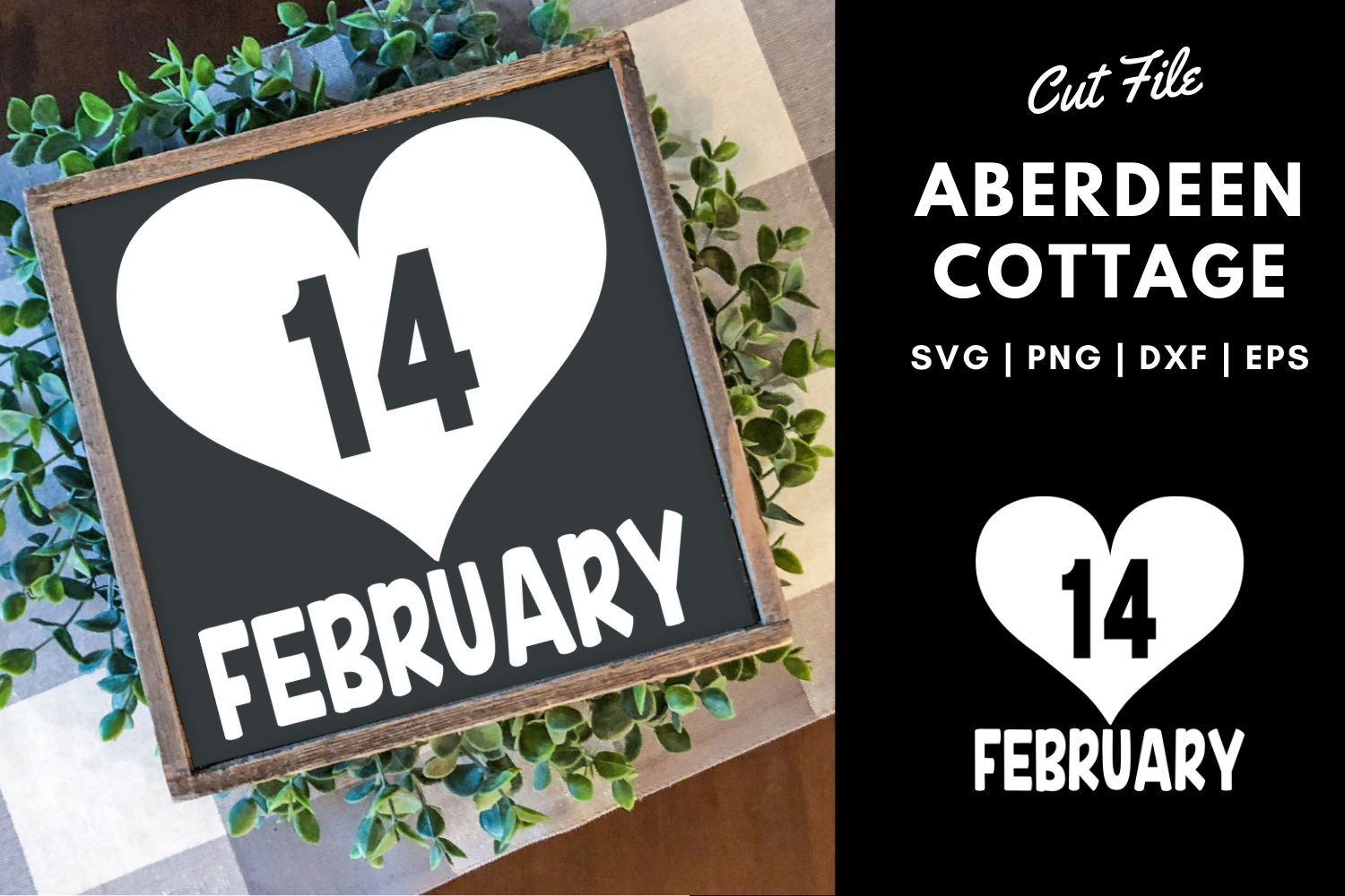 Valentine's Day | February 14th Cut Out SVG Design example image 1