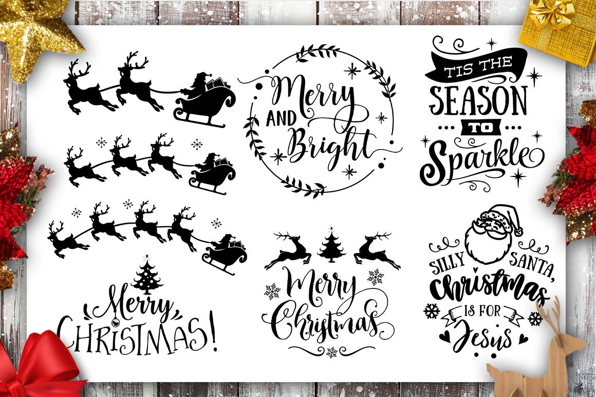 Christmas Bundle SVG bundle 40 designs Winter SVG example image 7