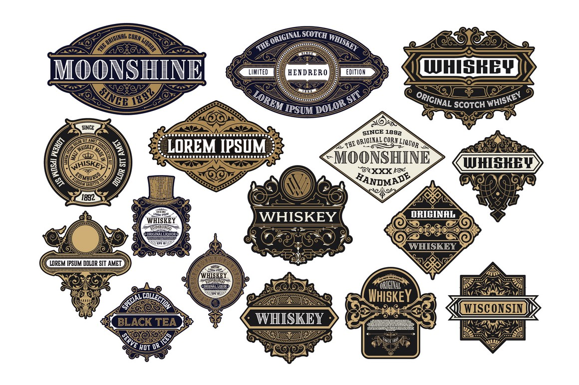 16 Ornamental Logos and Badges example image 2
