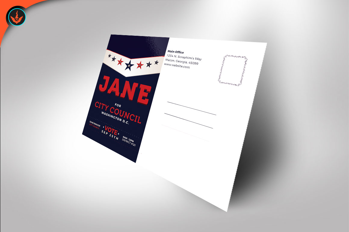 Political Flyer Photoshop, Word, Publisher Template 5 example image 4