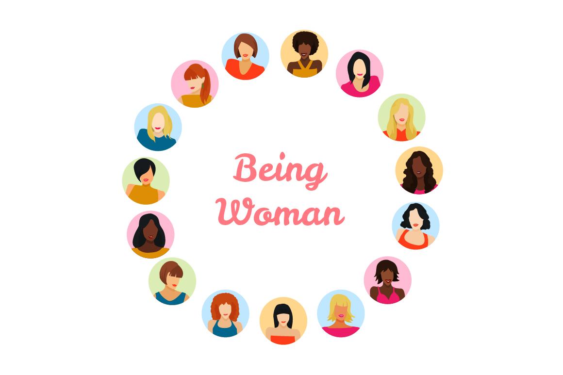 Vector Female avatars set 52 icons example image 3