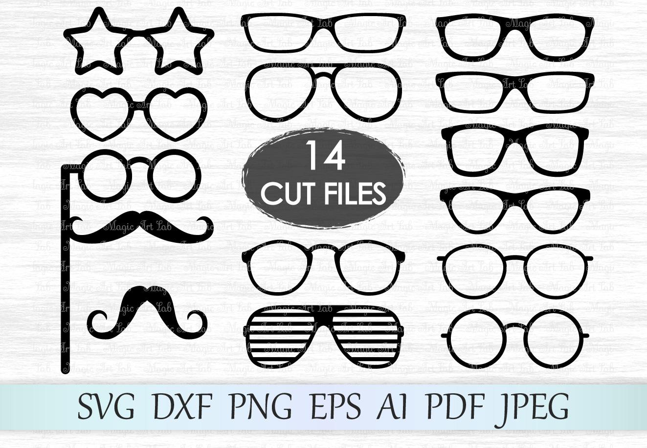 Glasses svg, Glasses clipart, Glasses svg file, Eyeglasses photobooth, Hipster glasses Svg, Glasses cut files, Party props, Hipster design example image 1