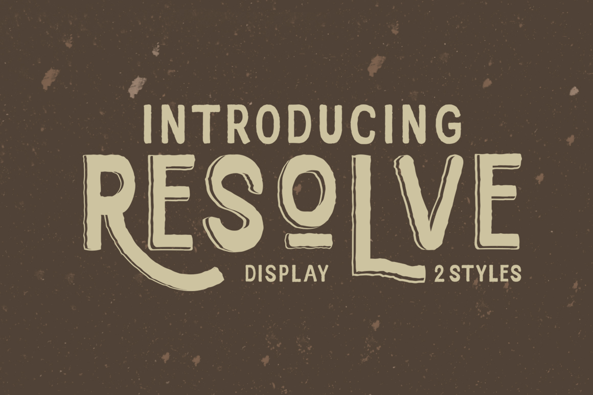 Resolve Font example image 1