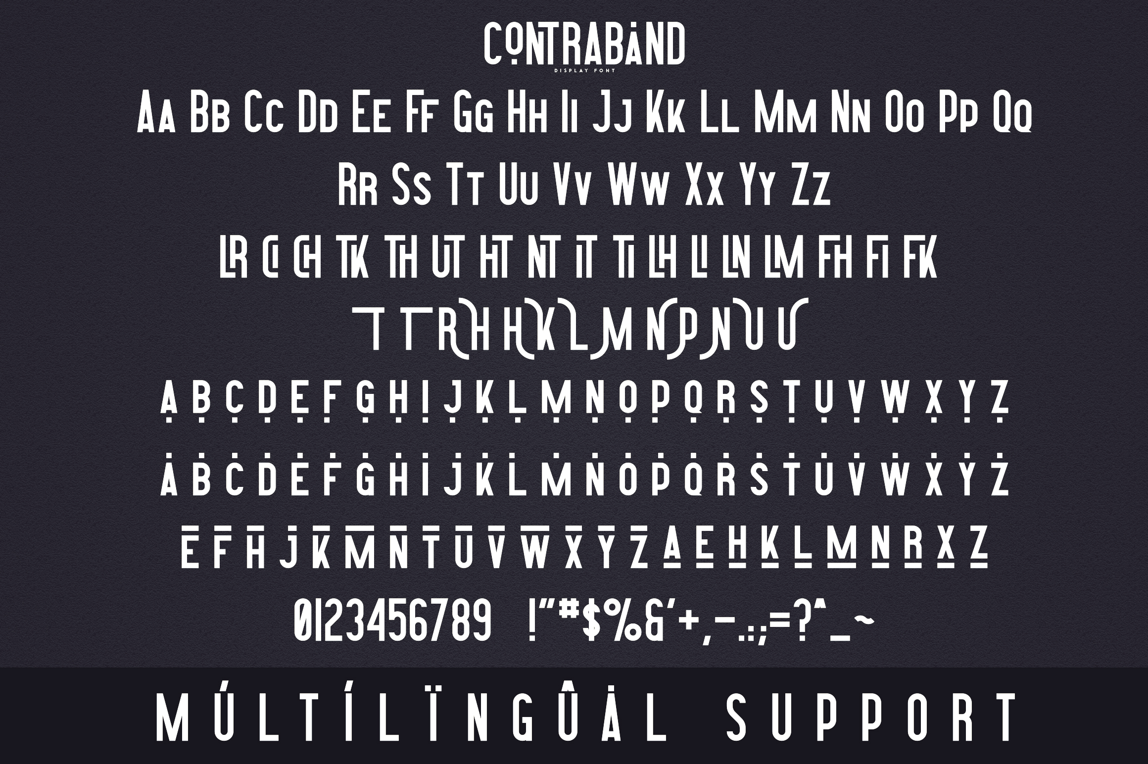Contraband - Display font example image 9