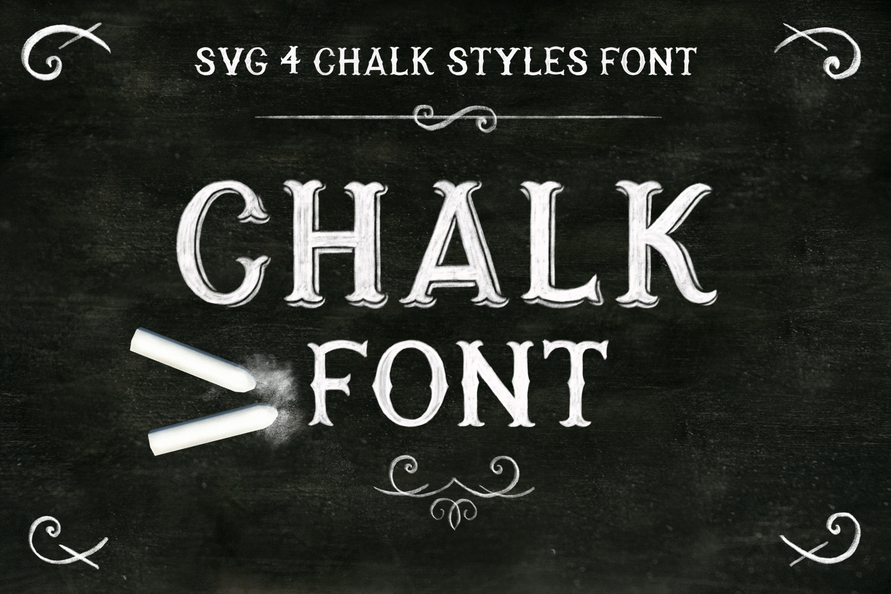 Chalk SVG font example image 1