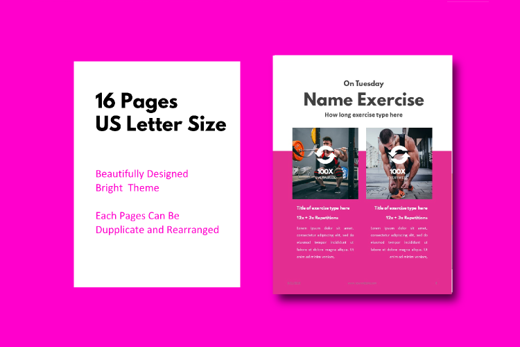 Fitness Girl Ebook Template Keynote Template