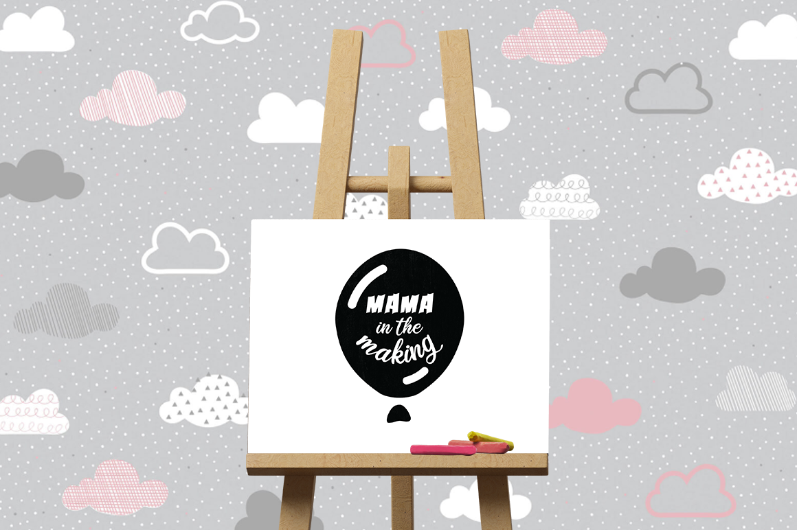 Pregnancy Announcement SVG Cut Files - Mama in the making example image 3