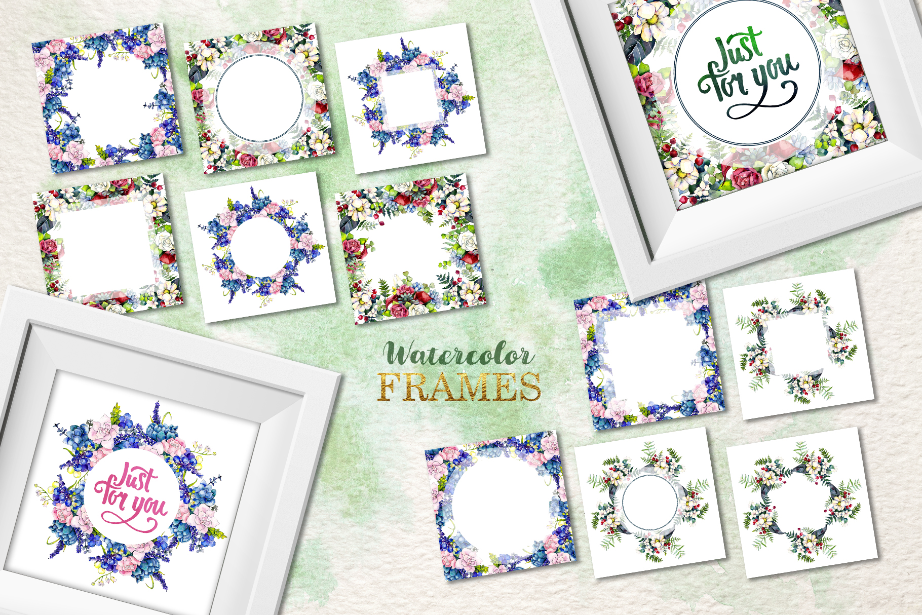 Gorgeous Flower Bouquets Watercolor png example image 8