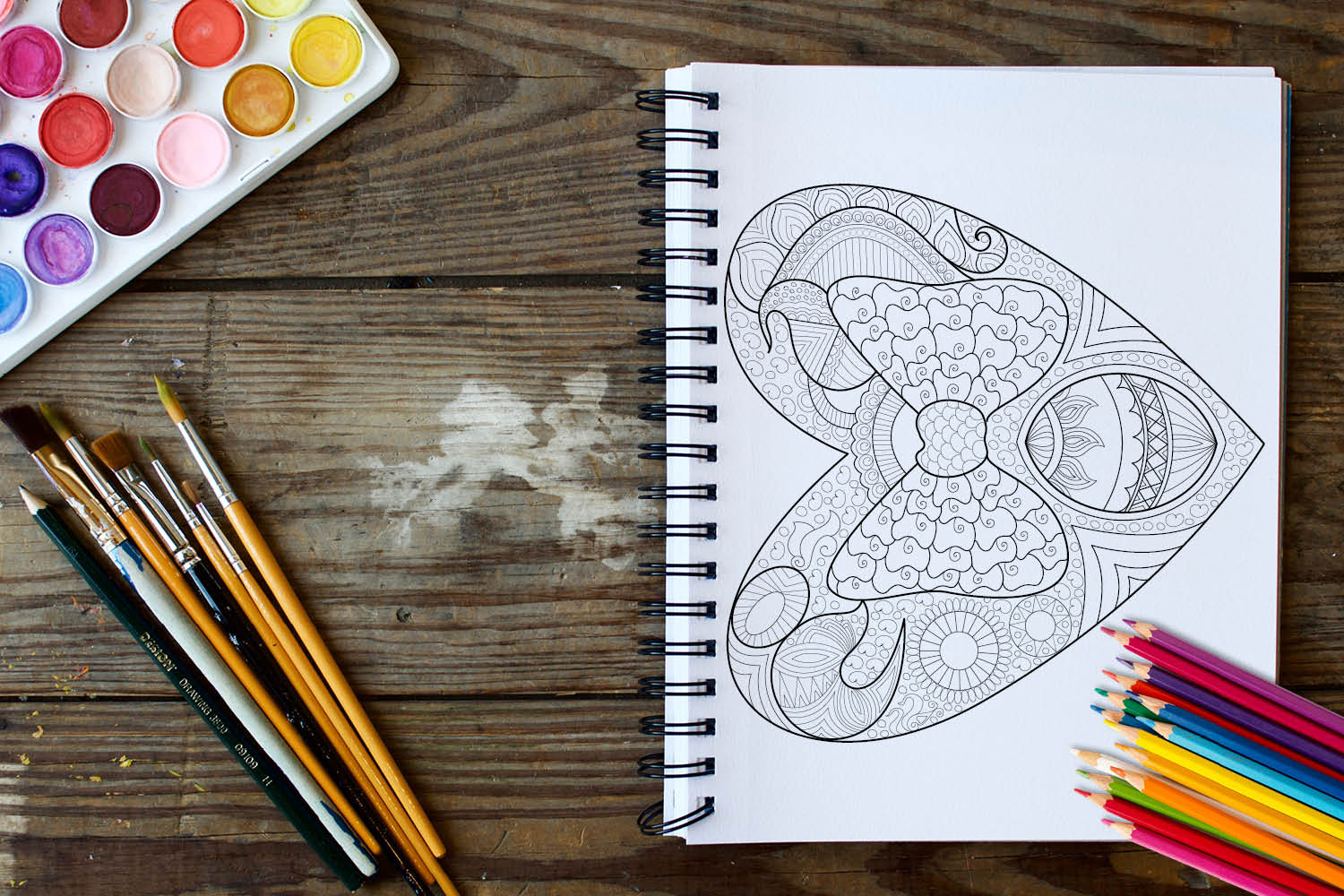 Hearts Coloring Book - 30 Love Coloring Pages example image 2