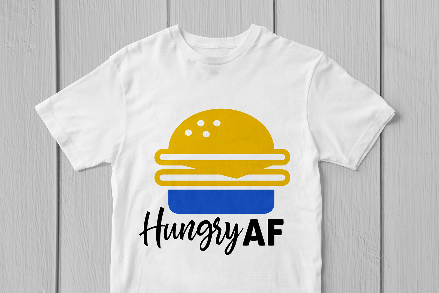 Hungry AF - Food SVG EPS DXF PNG Cutting Files example image 3