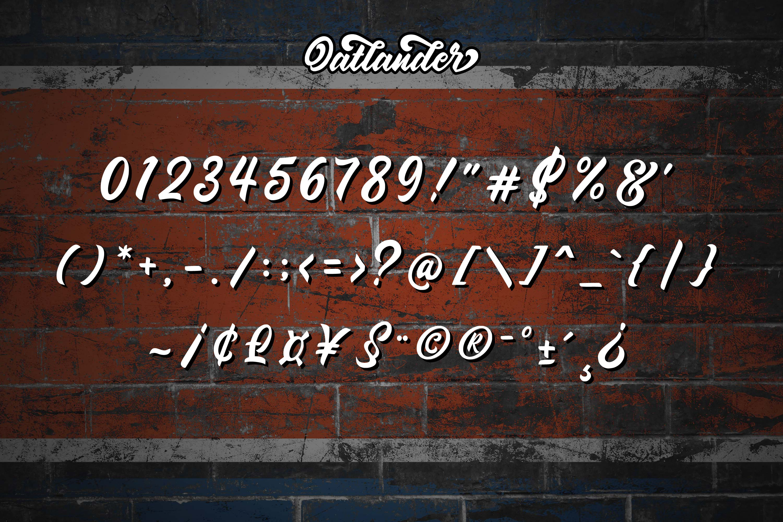 Oatlander - Authentic Bold Script example image 11